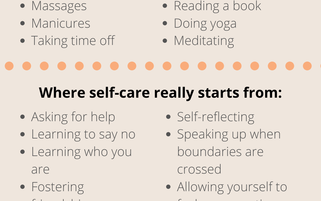 Where self-care really starts from