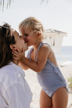 photo of little girl with mum